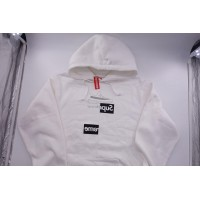 Supreme Split Box Logo Hooded Sweatshirt White