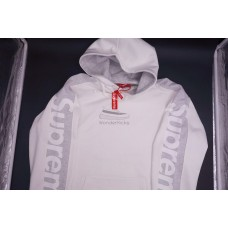Supreme Sideline Hooded Sweatshirt White