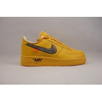 UA Air Force 1 Low Off White University Gold Metallic Silver