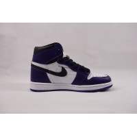 UA Air Jordan 1 Retro High Court Purple White