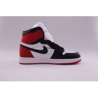 UA Air Jordan 1 Retro High Satin Black Toe