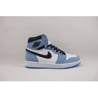 UA Air Jordan 1 Retro High White University Blue Black