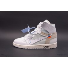 UA Air Jordan 1 High OG Off White In White