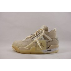 UA Air Jordan 4 Retro Off-White Sail