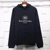 BC BB Mode Logo Printed Hooded Sweater Black