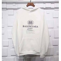 BC BB Mode Logo Printed Hooded Sweater White