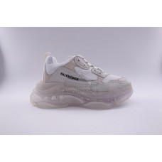 UA BC Triple S Clear Sole Trainer White