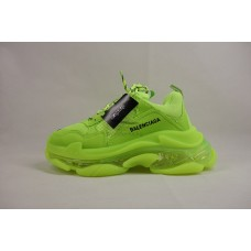 UA BC Triple S Clear Sole Trainer Fluo Yellow