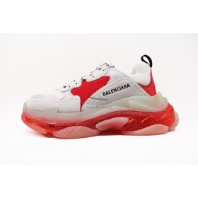 UA BC Triple S Clear Sole Trainer White Red